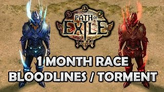 Path Of Exile 1 Month Bloodlines/torment Race Rewards & Poison Arrow Trapper Build Plans