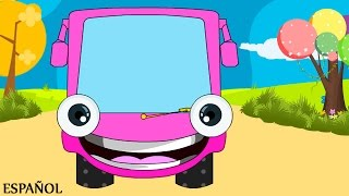 Wheels on the Bus Go Round and Round | Nursery Rhymes - Spanish  (Canciones infantiles)