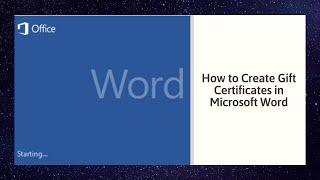 كيفية إنشاء شهادات الهدايا في Microsoft Word