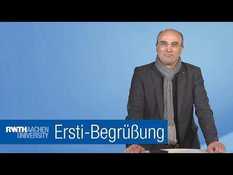 RWTH-Rektor Ulrich Rüdiger begrüßt die Erstsemester 🎓🎓🎓