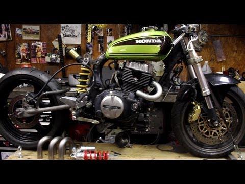 Honda Cb Cafe Racer >> Custom Honda CM450 Modern Cafe Racer Update (Greasy Dozen Update 4) - YouTube