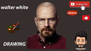 How to draw Walter White character