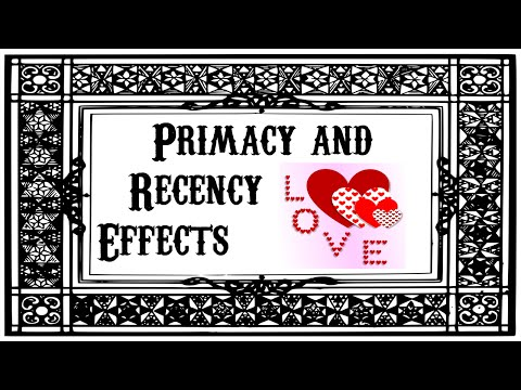 Primacy and Recency Effects (Valentine