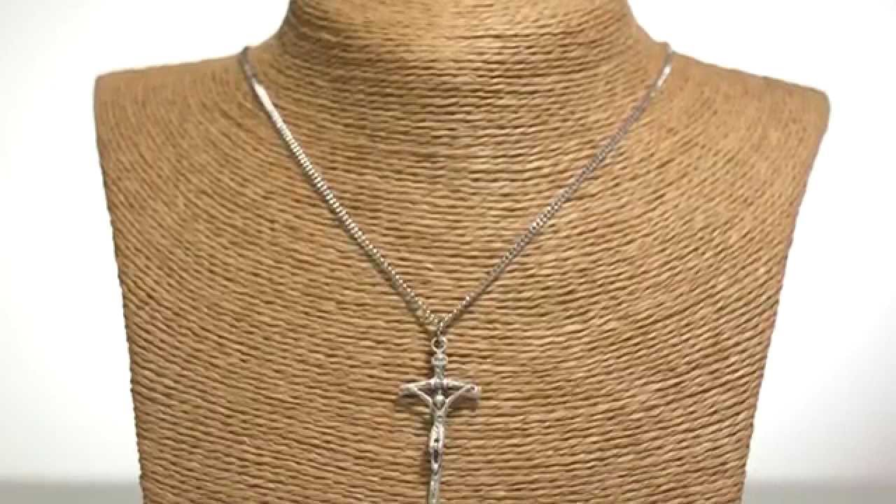 Sterling silver papal crucifix necklace 18 chain the catholic sterling silver papal crucifix necklace 18 chain the catholic company mozeypictures Gallery