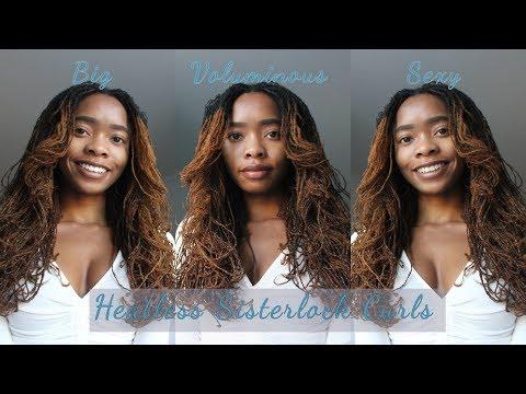 Big, Sexy, Voluminous Curls | Heatless Sisterlocks Curls