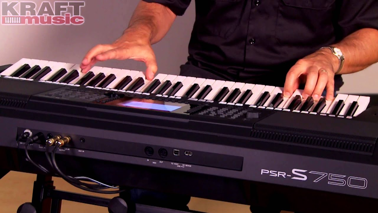 Kraft music yamaha psr s750 arranger demo with peter for Yamaha 221 vs 222