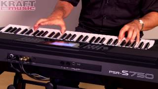 Kraft Music - Yamaha PSR-S750 Arranger Demo with Peter Baartmans