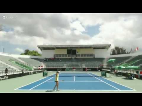 Fed Cup 2015: Michelle Valdez (DOM) vs Patricia Ku Flores (PER)