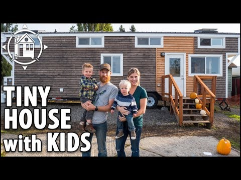 Modern TINY HOUSE with Kids! They Saved Big on Mortgage by Downsizing their Home
