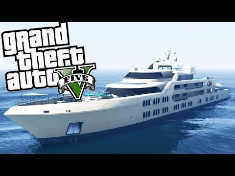 BEN HAS A HUGE CRUISE SHIP!? l GTA V ONLINE Funny Moments!