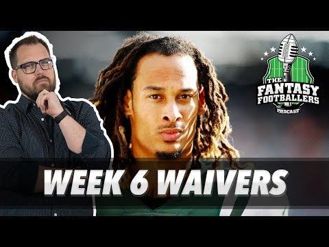 Fantasy Football 2018 - Week 6 Waivers & QB Streamers, Secret of the Ooze - Ep. #624