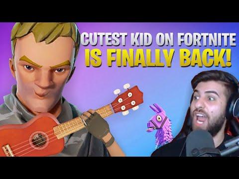 Cutest Kid On Fortnite Is BACK! Ukulele Kid Sings Me A Song - Part 4 (Fortnite Battle Royale)