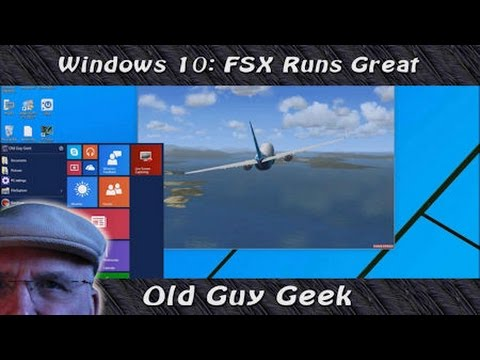 Windows  10 - Flight Simulator X Runs Great Without Mods