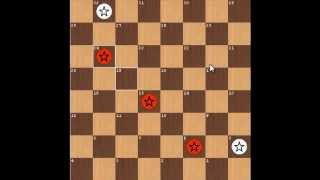 3 vs 2 in opposite corners endgame checkers(3step)