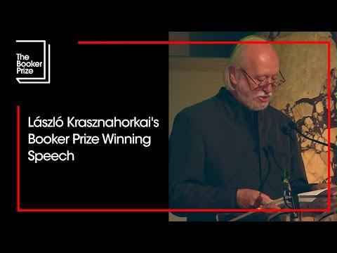 Man Booker International Prize 2015 winner's speech