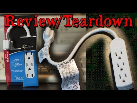 Sunbeam 3 Outlet Power Strip from the Dollar Store Teardown + Review