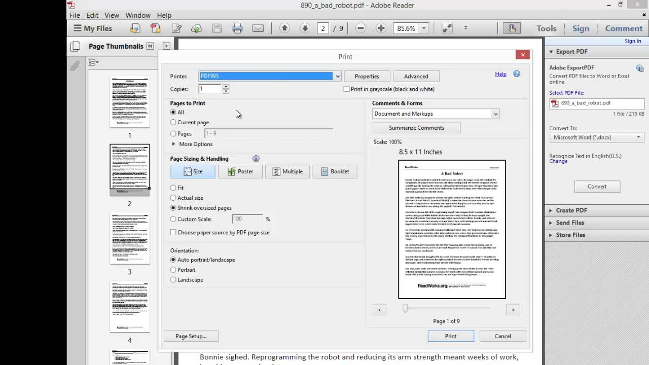 Pdf File Reader Program