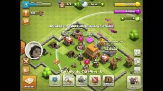 Clash of Clans (Melhorando o centro da vila para o nível 5!)