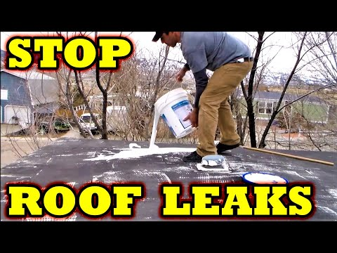 Mobile Home How To Stop Metal Roof Leaks With STA KOOL Elastomeric Coatings    YouTube
