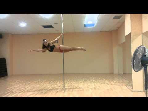 POLE DANCE SPORT FIGURA SUPERMAN TUTORIAL CON BETTY YEIN VALENCIA