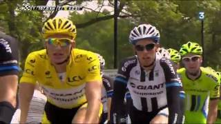 Cyclisme Tour de France 2014 - étape 2 York Ang - Sheffield Ang 201 km 06/07/2014 [Part 2/3]