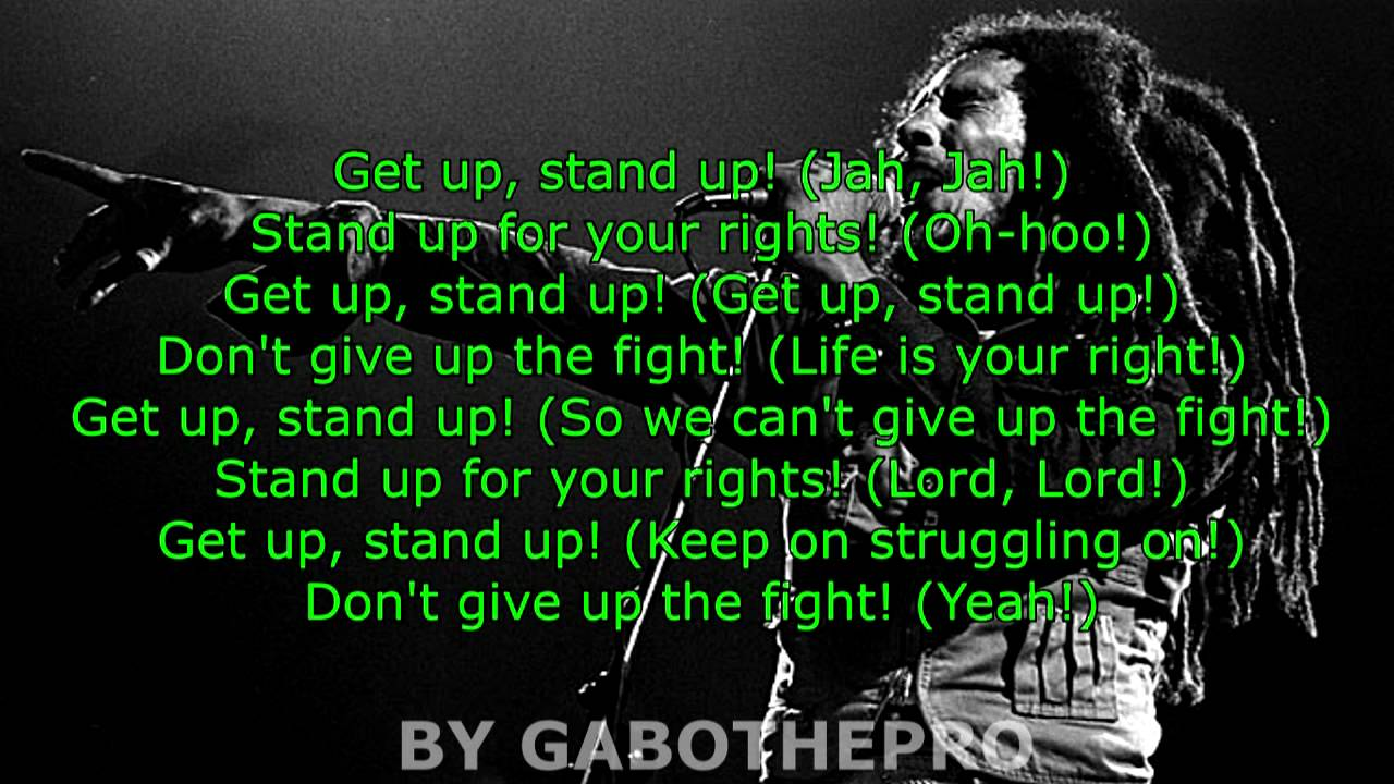 Bob Marley Get Up Stand Up Lyrics Youtube