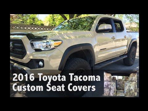 2016 toyota tacoma kryptek highlander seat covers youtube. Black Bedroom Furniture Sets. Home Design Ideas