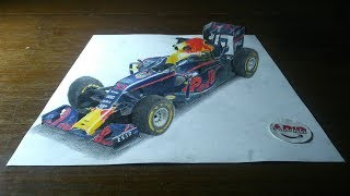 3D Drawing F1 | Red Bull | Time Lapse