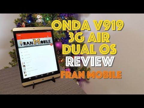 Review Onda V919 3G Air Dorado en Español