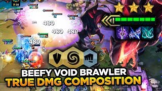NEW VOID TRUE DAMAGE IS INSANE! BEEFY TRUE DAMAGE COMP! | Teamfight Tactics
