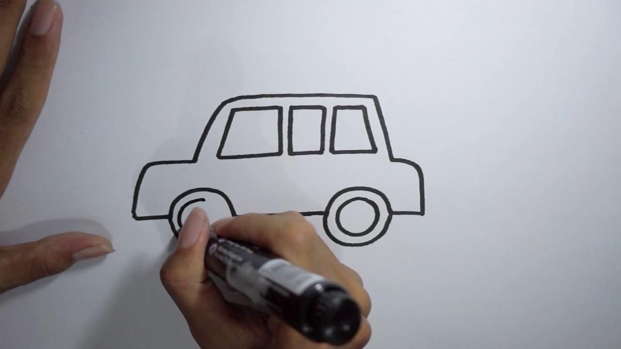 Menggambar Mobil Kartun Untuk Anak Anak Dengan Mudah