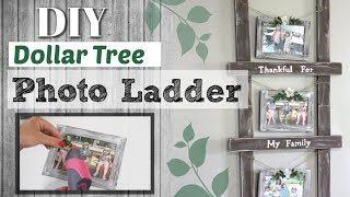 ⭐Dollar Tree DIY Photo Ladder | DIY Farmhouse Dollar Tree Decor | Krafts by Katelyn