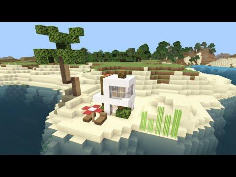 How to build EASY Modern Beach House - Minecraft