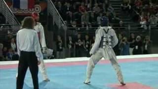 European Taekwondo Championships 2008 Rome over 84 kg Greece vs France Round 4