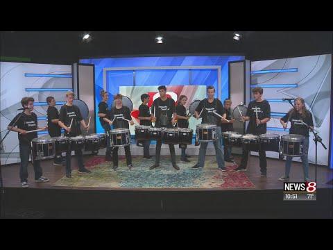 Zionsville Community High School drumline performs
