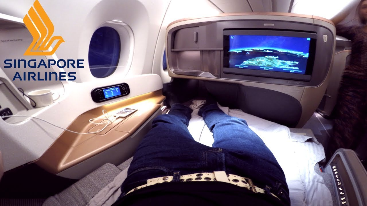 Singapore Airlines Business Class Hong Kong To Singapore Airbus A350 900 Youtube
