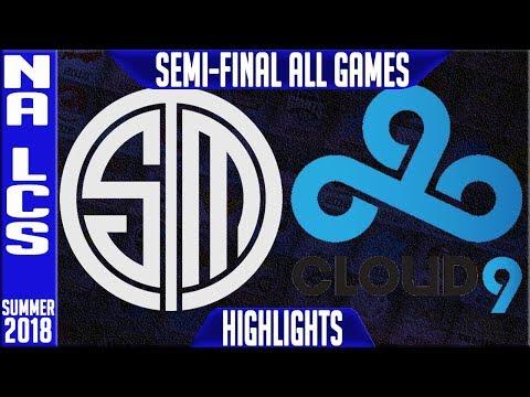 TSM vs C9 Highlights ALL GAMES | NA LCS Playoffs Semi-Final Summer 2018 | Team Solomid vs Cloud9