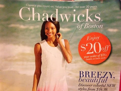 151003c89b CHADWICKS OF BOSTON Fashion Catalog - YouTube