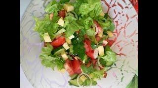 Диетический салат с сыром