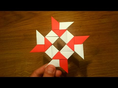 How To Make a Paper 8-pointed Ninja Star - Origami Shuriken