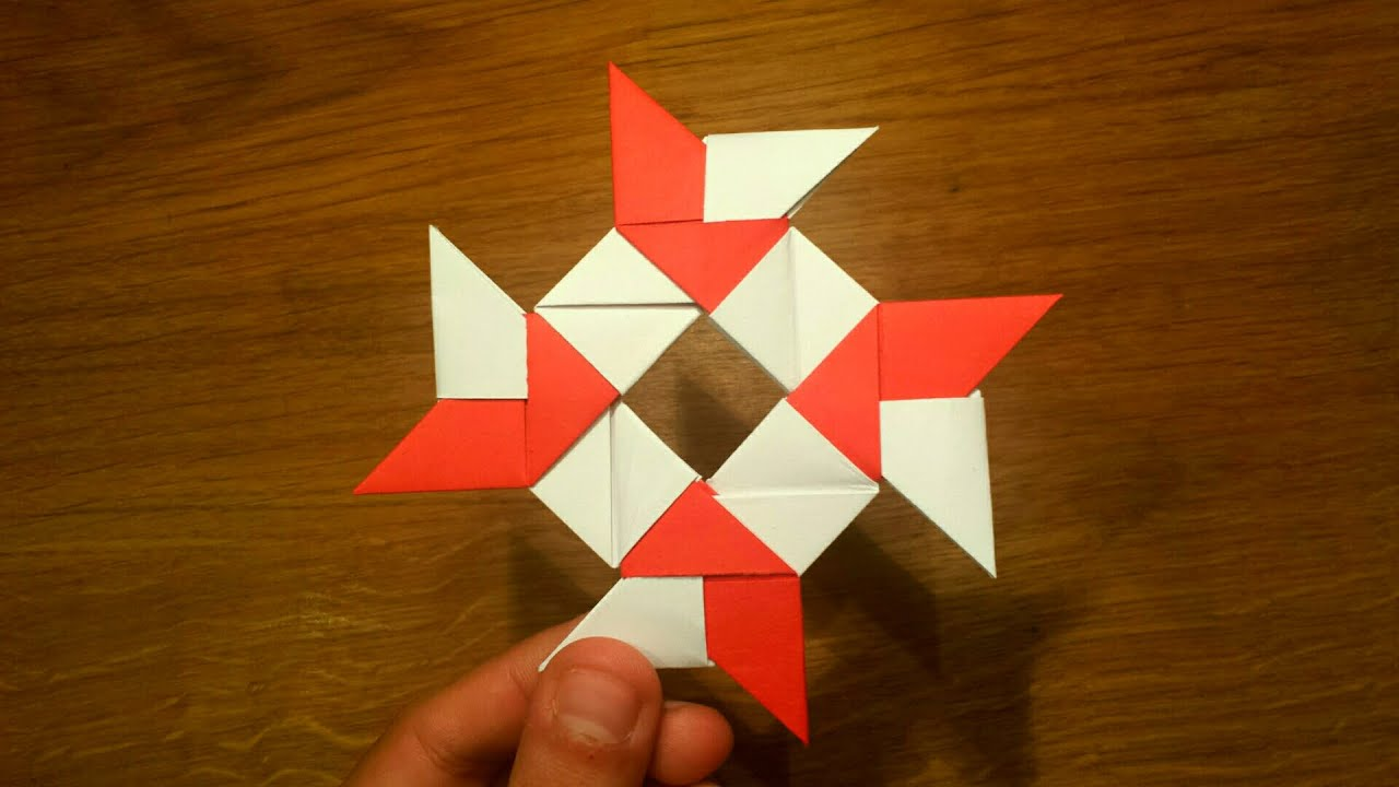 How To Make a Paper 8-pointed Ninja Star - Origami ... - photo#40