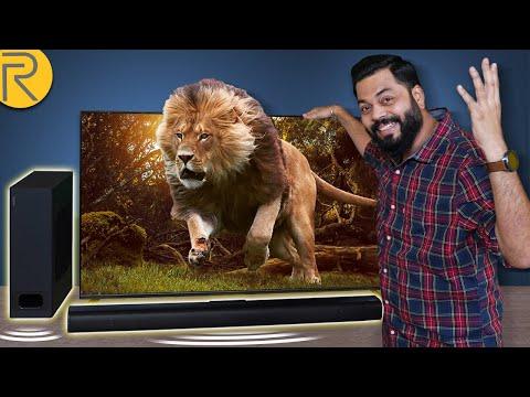 "realme 4K SLED TV 55"" & realme Soundbar Unboxing & First Impressions ⚡⚡⚡ अब सिनेमाघर आपके घर पर"