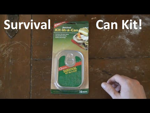 Survival Kit In A CAN!  Opened & Reviewed!