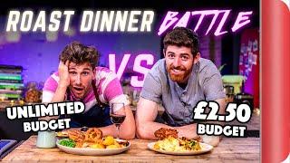 ROAST DINNER BUDGET BATTLE  CHEF (2.50 Budget) vs NORMAL (Unlimited Budget)
