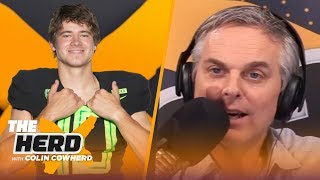 Justin Herbert compares his game to Matt Ryan, talks Draft, Chargers, Oregon & more | NFL | THE HERD