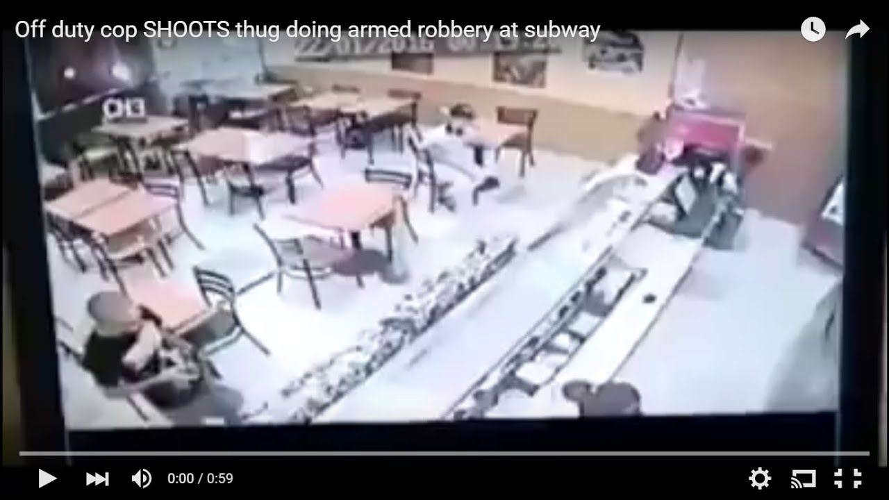 Monday Morning Quarterback Off Duty Police Officer Stops Robbery In Subway  Restaurant