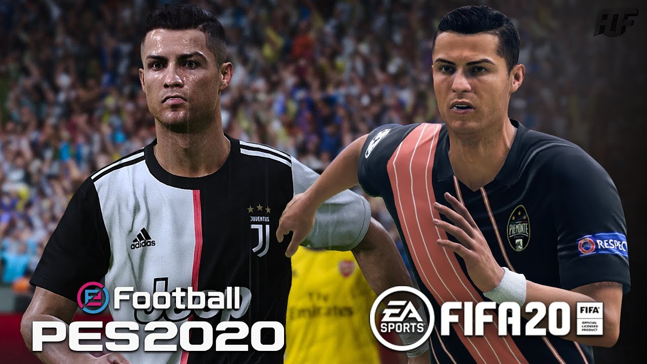 Fifa 20 Vs Pes 2020 Juventus Piemonte Calcio Youtube