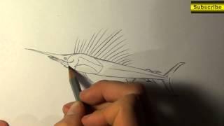 orial How to draw a SWORDFISH step by step // wie man einen Schwertfisch zeichnet