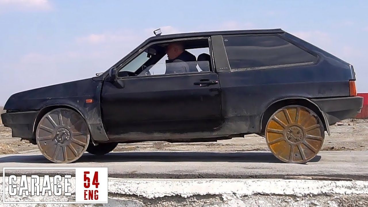 Replacing the wheels with manhole covers - YouTube