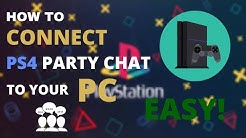 How To CONNECT Party Chat To Your PC | PLAYSTATION 4 | GIVEAWAY EXPLAINED!
